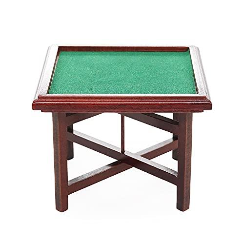 【Odoria ミニチュア雜貨】1/12 麻雀卓 折りたたみ式 ゲーム デスク 木製 家具 ドールハウス