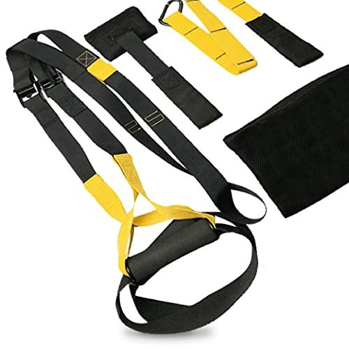 JOWY Suspension Trainer o Training con Correas Ajustables de Carga hasta 500kg es Ideal para Ejercicios y Entrenamientos de Musculación, Fitness o Crosstraining. Tu casa es tu Gimnasio.
