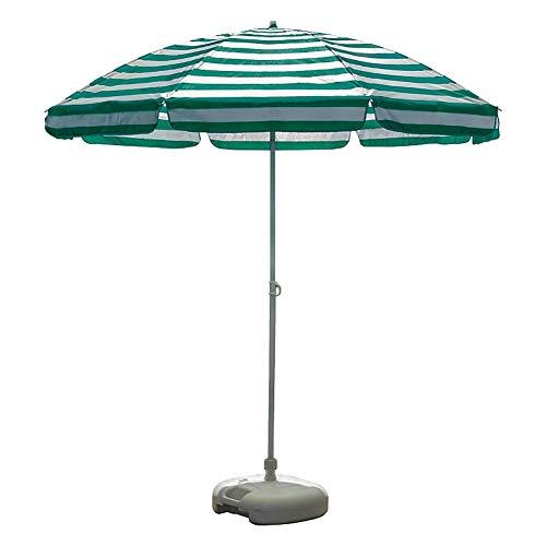 Parasols de Jardin, Parapluie de en Aluminium, Pare-Soleil pour Meubles de Jardin avec 8 Nervures, Hauteur 2 m / 6,6 Pieds, Bleu/Vert/Rouge (Color : Green)