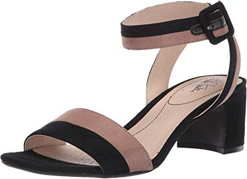 LifeStride Women s Carnival Heeled Sandal Black Mushroom 9 M US product image