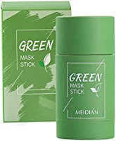 Green Mask Stick, Green Tea Purifying Clay Stick Mask, Face Moisturizes Oil Control, Deep Cleansing Smearing Clay Mask,...