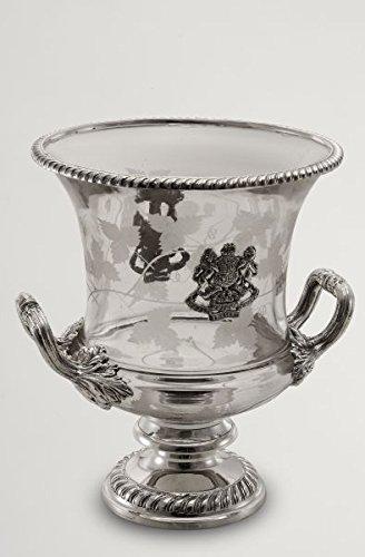 Royal Queen Sektkühler mit Glas und Silber Sheffield cod.565912 cm 27h diam.22 by Varotto & Co.