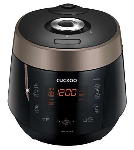 Cuckoo CRP-P0609S 6 cup Electric Heating Pressure Rice Cooker & Warmer, 10.10 x 11.60 x 14.20, Black