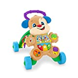Fisher-Price-HBB68 Laugh & Learn Smart Stages Puppy Walker, Italian, Multicolore, HBB68