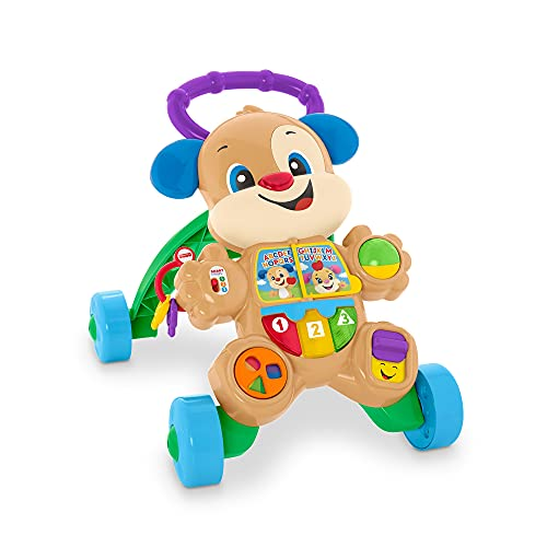 Fisher-Price-HBB68 Laugh & Learn Smart Stages Puppy Walker, Italian, Single, Multicolore, HBB68