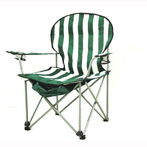Camping klappstuhl außen, Canvas canvas Liegestühle Amerikanischen Lounge chair Portable Ageln stuhl Leisure stuhl Liegestuhl Heavy-duty 260 lb kapazität mit tragetasche-grün W54xH98cm(21x39inch)