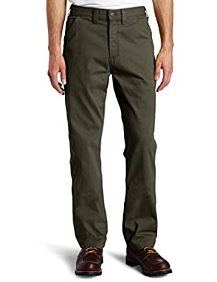 Carhartt Men's Relaxed Fit Washed Twill Dungaree Pant, Dark Coffee, 30W X 30L