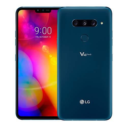 LG V40 ThinQ Dual SIM 128GB 6GB RAM V405EBW Moroccan Blue