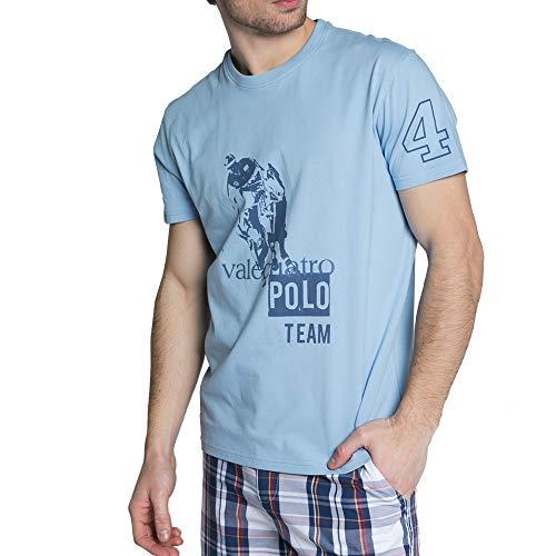 Valecuatro Camiseta Cuello Redondo Hombre, 100% Algodón, Polo