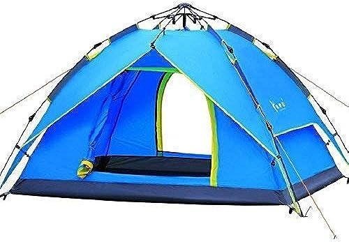 WENYAO Produits de Plein air Camping en Plein air Double tentes de Pluie, tentes Rapides, 3-4 Personnes, tentes de Camping Cabines familiales