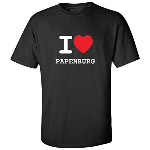 JOllify T-Shirt PAPENBURG T1246 - Farbe: schwarz - Design 1: I Love - Ich Liebe - Größe XXXXL 4XL