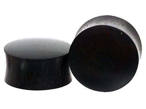 Dilatadas plug Black areng madera 6.0 - 50 mm pendientes Piercing