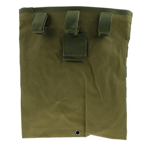 MagiDeal Sac à Dos De Randonnée Rangement Drop Pouch Utilitaire Tactique Molle Extérieure - armée verte, 29.5x25cm