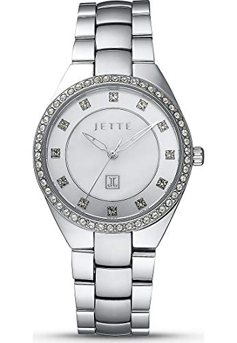 JETTE Time Damen-Uhren Analog Quarz One Size Silberfarben Edelstahl 32012269