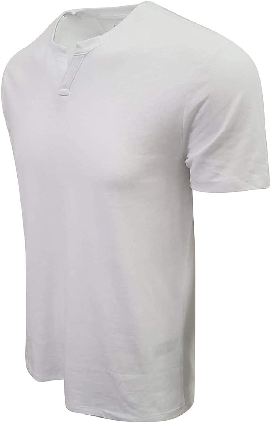 BANANA REPUBLIC Men's Quick Dry Henley T-Shirt…