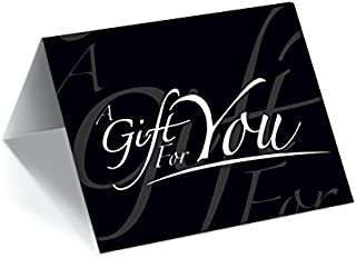 Gift Card Presenters (Black - Italic) 200 Pack