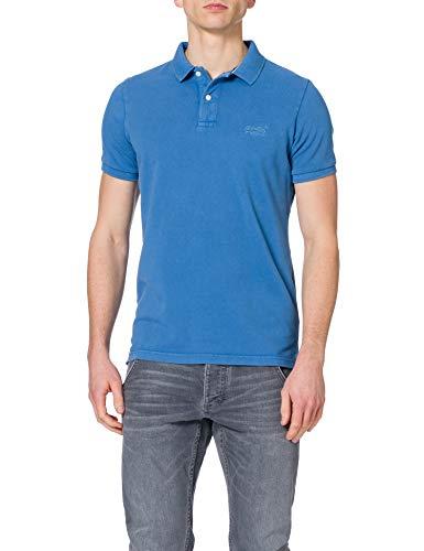 Superdry Mens M1110014A Polo Shirt, Heraldic Blue, L