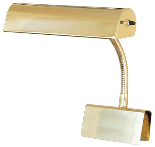 House Of Troy GP10-61 Grand Piano 10-Inch Portable Lamp, Polished Brass