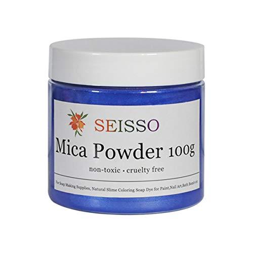 SEISSO DEWEL ca.100g Naturale Pigmenti Coloranti, Mica Powder Mica Polvere Colorante Polveri Perlato per DIY,Sapone, Slime,Candele, Acquerello, Cosmetici