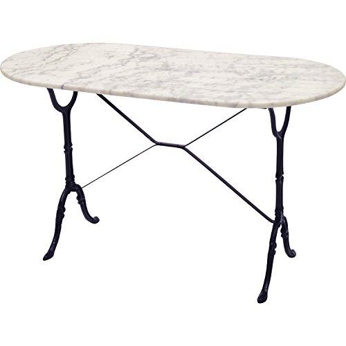 Unbekannt Pflanzenständer–Table de Marmor weiß 120x 60cm oval