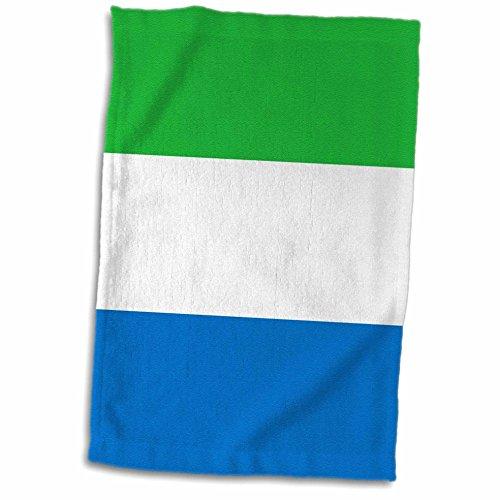 3D Rose Flagge von Sierra Leone Grün Weiß Blau Horizontale Streifen - West Afrika Land Afrika Welt Handtuch, 38,1 x 55,9 cm, Mehrfarbig