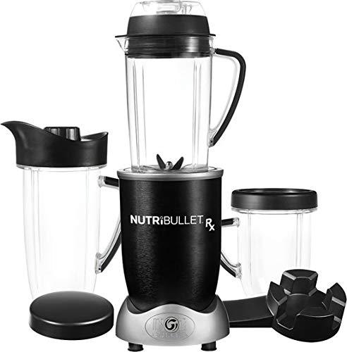 NutriBullet RX 1700 (watt) series - Mixer Blender met verwarmingsfunctie voor soepen en sauzen - 10 delig - zwart