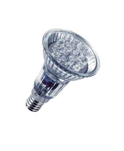 OSRAM DECOSPOT Spot à DEL, 0,80 Watt, socle E14, blanc 230 volt, intensité lumineuse: 180cd, angle d'éclairage: 20 degrés, lampe de forme réflectrice PAR16, boî