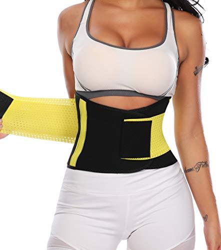 KIWI RATA Faja Reductora Neopreno Cinturón de Sudoración Deporte Transpirable Faja Lumbar Abdominal para Reducir La Cintura, Efecto Sauna,Quema Grasa Mujer y Hombre