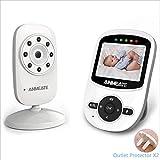 NLDM Monitor para Bebés, Monitor para Bebés con Pantalla HD De 2.4'con Cámara Y Audio, con Visión Nocturna por Infrarrojos, Sensor De Temperatura, Largo Alcance, WiFi