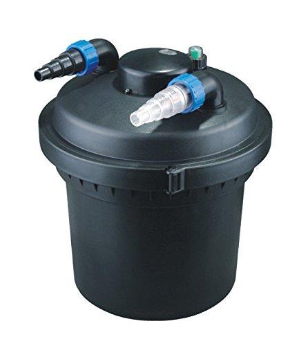 Aquaristikwelt24 CPF 280 Bio Teichfilter 8000l Druckteichfilter Druckfilter Bachlauf UVC Klärer Filter Teich Lampe Klar UV