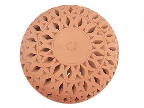 Orientalische Wandlampe Lampe Ton Laterne für Innenraum und Garten aus Terracotta Mediterran 25 cm - 905811-0001