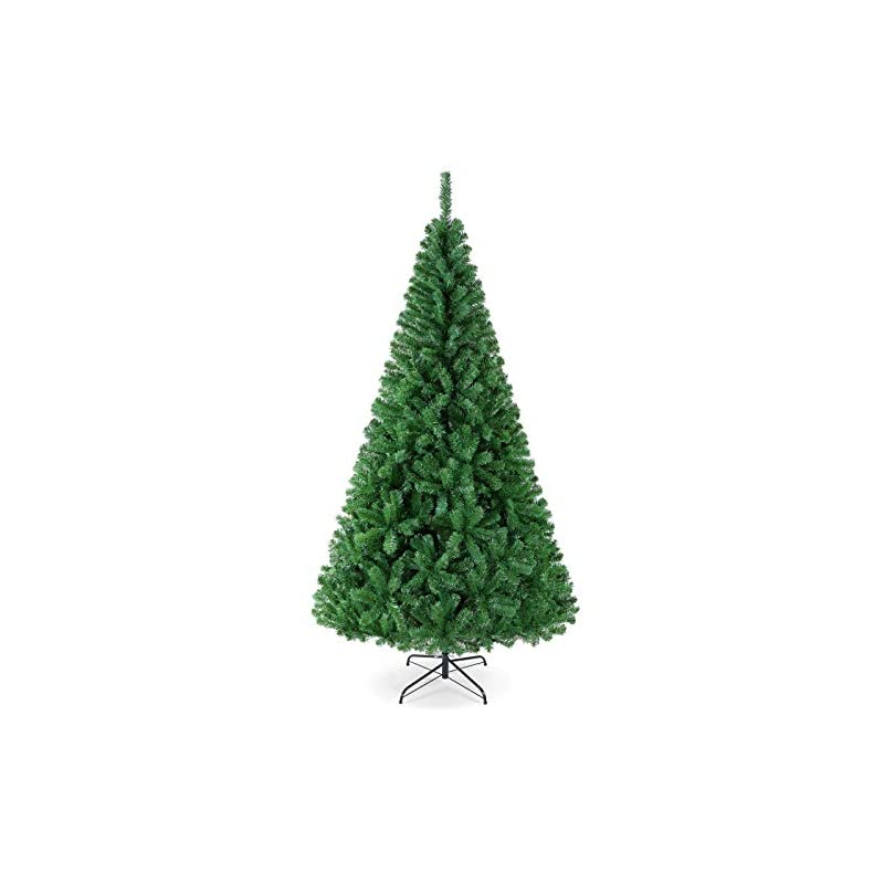 silk flower arrangements yaheetech 7.5ft unlit artificial green lifelike christmas pine tree holiday decoration with 1011 branch tips and foldable stand, easy assembly