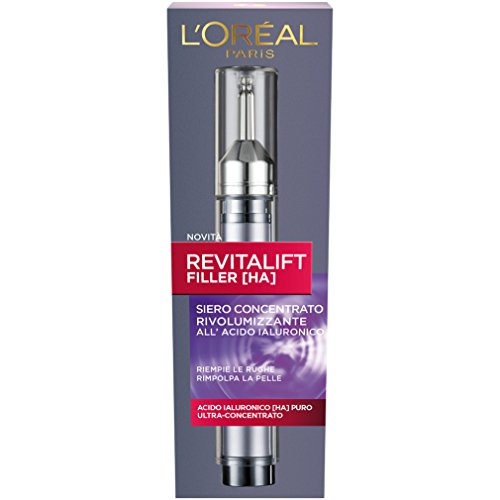 L'Oréal Paris Revitalift Filler Siero Antirughe Rivolumizzante con Acido Ialuronico Ultra Concentrato - 16 ml