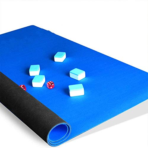 Professional Game Table Cover (32.6 x 32.6 in) - for Mahjong, Card Games, Board Games, Tile Games - Non-Slip - Blue Color