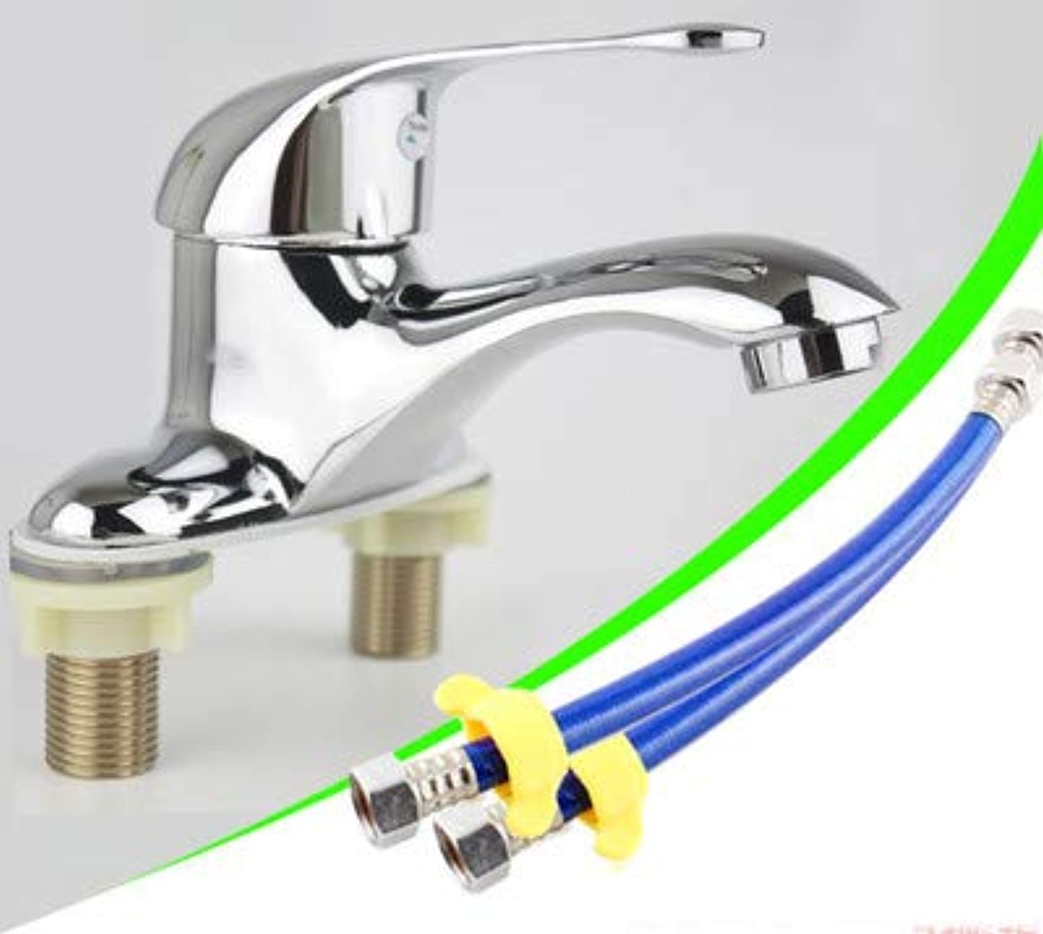 Hlluya Professional Sink Mixer Tap Kitchen Faucet Double Hole cold water faucet solid brass,W