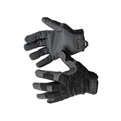 5.11 High Abrasion Tac Glove Men's Military Full Finger High Abrasion Tactical Gloves, Style 59371, Medium, Black