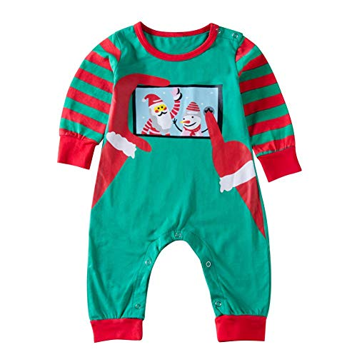 Zerototens Christmas Pajamas for Girls,Toddler Kids Red Long Sleeve Santa Claus T-Shirt Tops and Striped Leggings Child Sleepwear Pants Sets Xmas Outfit