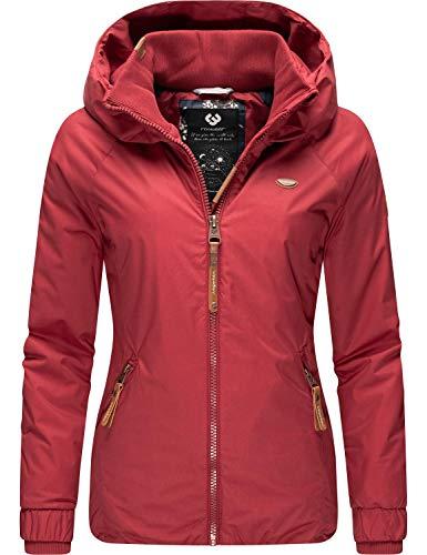 Ragwear Damen Winterjacke Outdoor Funktionsjacke mit Kapuze Dizzie Winter Rot Gr. L