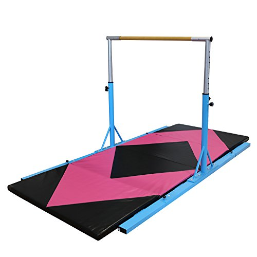 Silverylake Expandable Kip Bar for Gymnastics Training Mat Package Portable Suit for Kid Traning