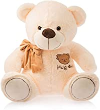 Frantic Teddy Bear with Neck Bow Premium Quality Soft Plush Fabric (Butter_HugMe, 32 cm)