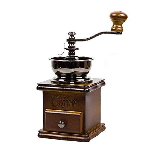GYW-YW Manuelle Kaffeeschleifer Klassische Hand Kaffee Kaffee Mühle Home Dicke Holzschleifer Edelstahl Bewegung Multifunktionale Haushalt Kaffeebohne Mühle Tragbare manuelle...