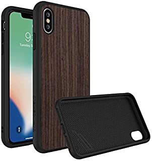 Protective Cover from RhinoShield solidsuit for iPhone XS,dark brown wood
