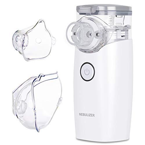 CONTEC Inhalator Tragbar Inhalationsgerät Vernebler Set mit Maske für Kinder und Erwachsene, zur Verbesserung für Atemwegserkrankungen, Mehrweg