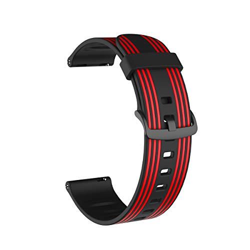 @ccessoryUK - Pulsera compatible con Samsung Galaxy Watch 3, 45 mm, 22 mm, silicona de liberación rápida, para Gear S3 Huawei GT2, 46 mm, color rojo