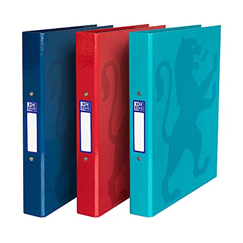 Oxford Ring Binder A4, Assorted Colours, Pack of 3