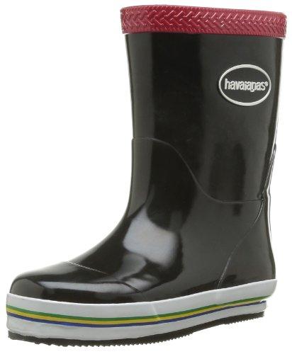 Havaianas Aqua Kids Rain Boots, Botas de Agua para Niñas, Multicolor (Black/Red), 33 EU (31 Brazilian)