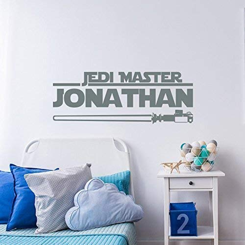 Star Wars Decals Star Wars Name Wall Decals Star Wars Wall Decal Jedi Knight Wall Decals Star Wars room decor Kids Name Wall Decals