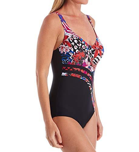 Anita Women's Peacock Bay Tilda Underwire One Piece Swimsuit 7329 50C Raspberry