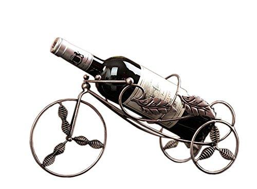 PANDA SUPERSTORE Bronze Tricycle Wine Rack Storage Organizer Display Champagne
