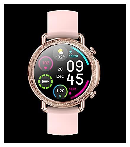 KaiLangDe Smartwatch Reloj Inteligente con Pulsómetro Cronómetros Calorías Monitor de Sueño Podómetro Monitores de Actividad Impermeable Reloj Deportivo para Pulsera (Color : Gold Steel)